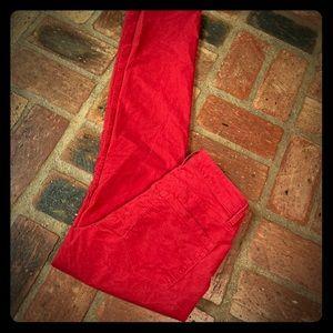 LOFT 🎄 Red Corduroy Pants